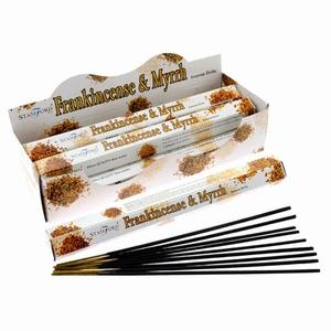 Stamford Premium Hex Wierook Stokjes - Frankincense & Mirre