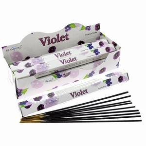 Stamford Premium Hex Wierook Stokjes - Violet