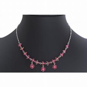 Mooie roze strass ketting