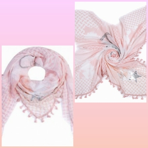 Stars-Hearts-Peace-Studs and Tassels Roze