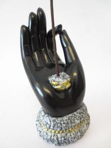 Wierookhouder hand zwart