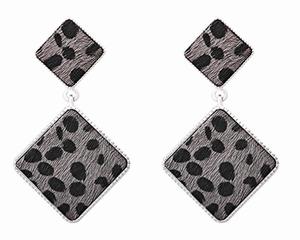 Grijze vierkante met print