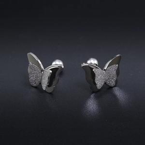 Dubbel Vlinder zilver kleurig