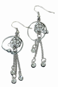Zilver kleurige oorbellen