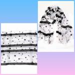 Sjaal Zwart/Wit sterren