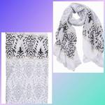 Sjaal Baroque zwart/wit