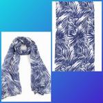 Sjaal met Blauwe Bladeren