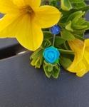 Siliconen roosje Blauw